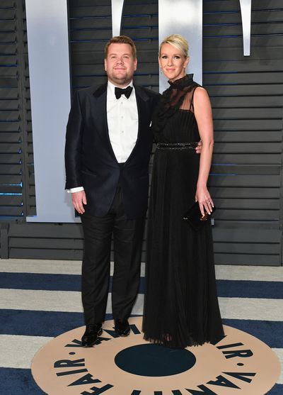 James Corden and wife Julia Carey at the 2018 Vanity Fair Oscars After Party