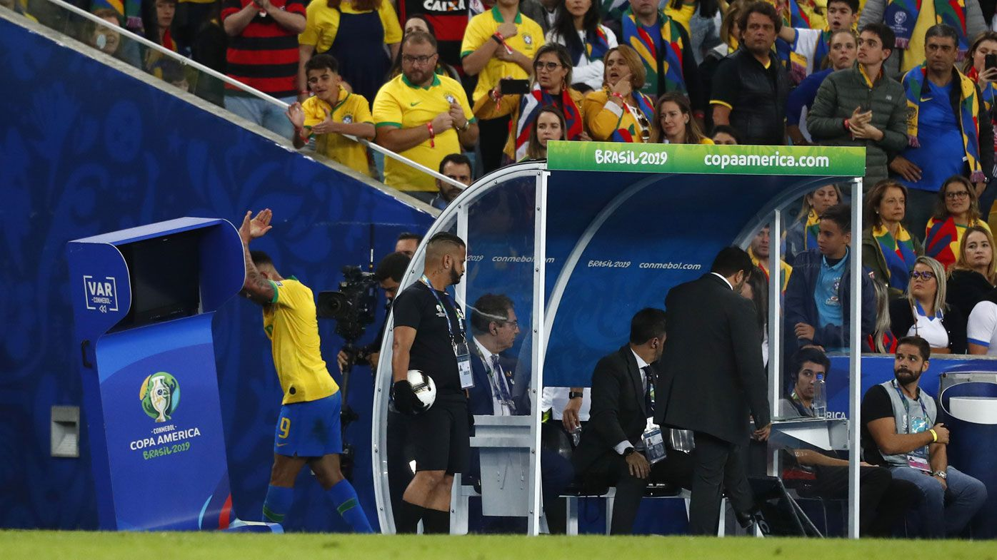 Brazil star Gabriel Jesus breaks down after controversial send off