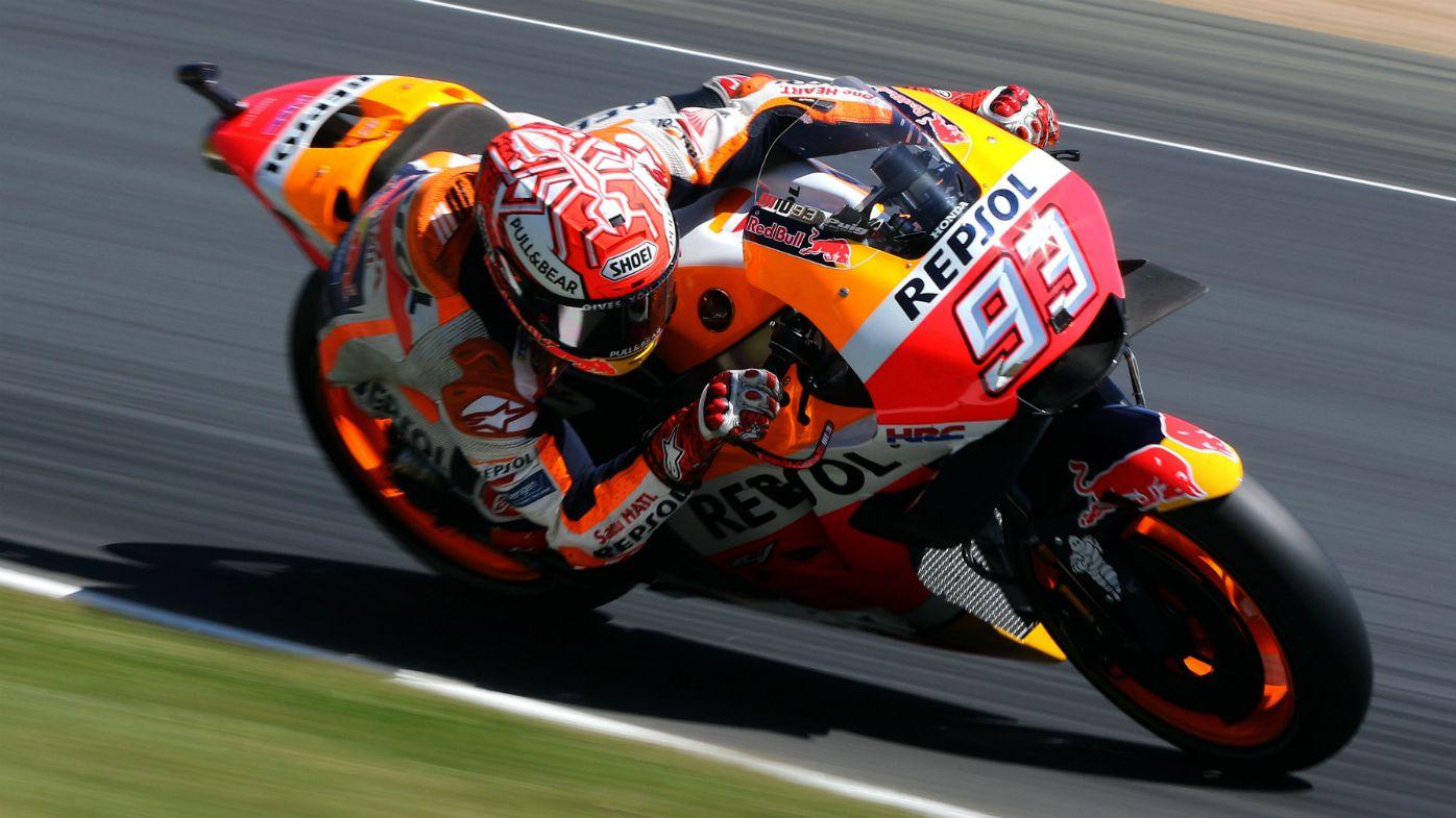 Spanish Moto GP rider Marc Marquez