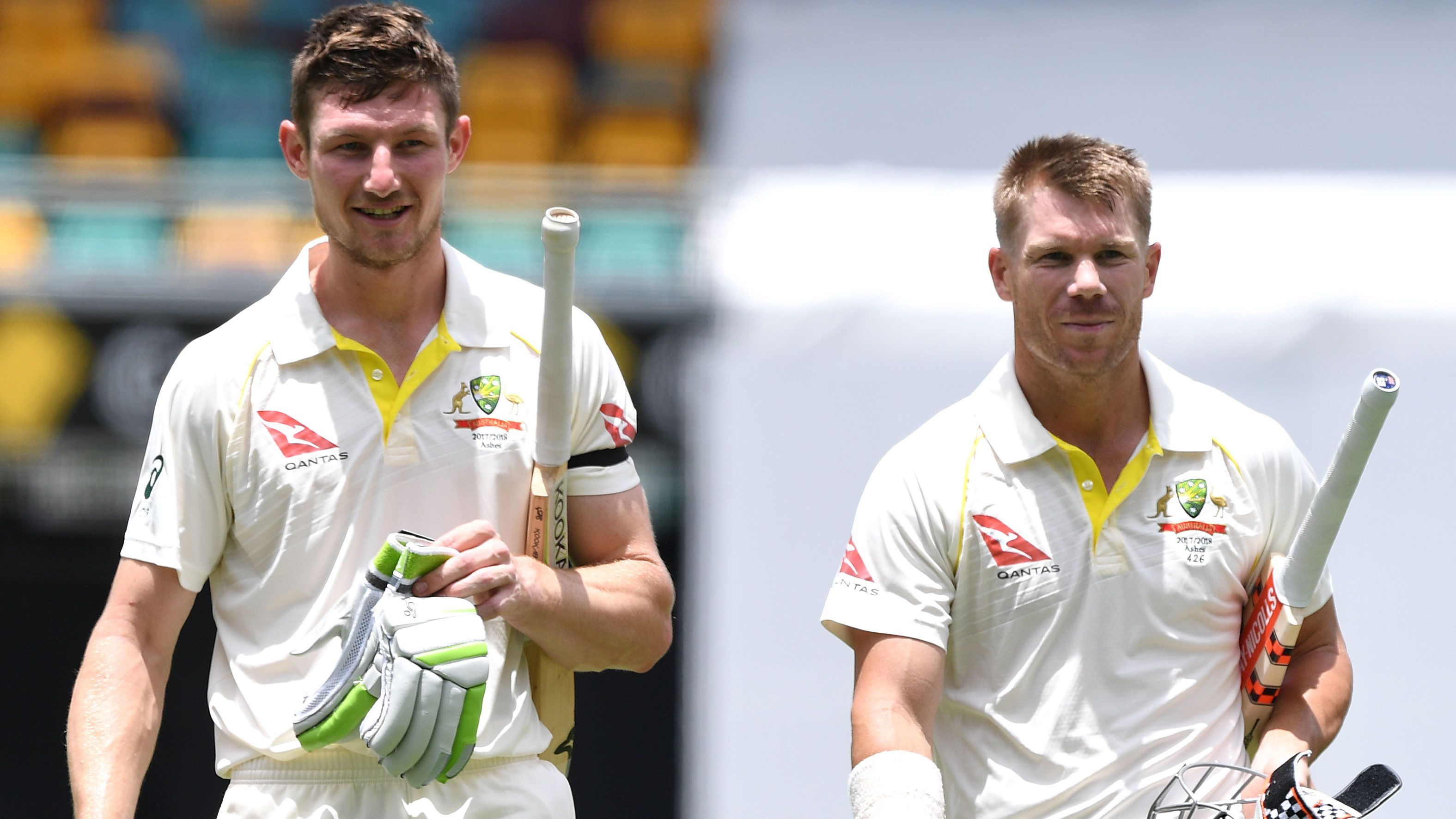 Cameron Bancroft and David Warner