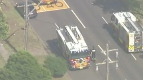 A man is in a serious condition after a house fire in Penrith. (9NEWS)