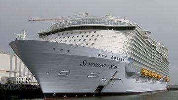 The cruise ship 'Symphony of the Seas'.