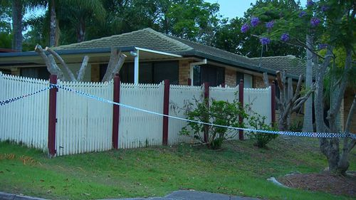 Police have cordoned off the house while they conduct their investigation. (9NEWS)