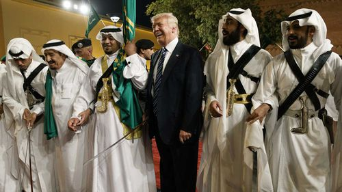 Donald Trump in Saudi Arabia last year.