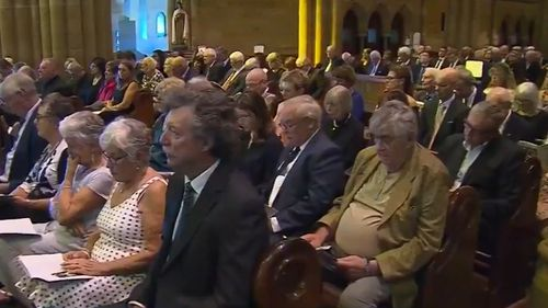 Hundreds attended the service at St Mary's Cathedral in Sydney.