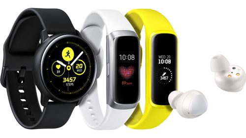 Samsung's latest fitness inspired wearable range.
