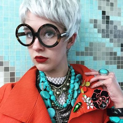 "<p><strong>4. Iris Apfel</strong></p> <p>A choppy grey wig, more accessories than a Lovisa store and spectacles that can be seen from space will transform you into fashion's favourite ambassador of advanced style<a href=""http://honey.nine.com.au/2015/07/31/13/02/iris-apfel-style-file"" target=""_blank""> Iris Apfel</a>.</p> <p>Emily Dawn Long scored a perfect 10 for her costume at the New Museum gala in New York last year.</p> <p> </p> <p> </p>"