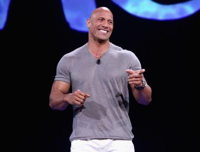 <strong>Dwayne 'The Rock' Johnson, former wrestler turned actor</strong>