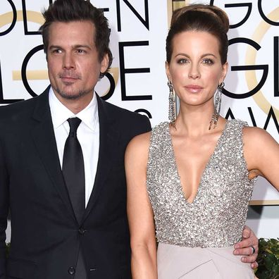 Len Wiseman and Kate Beckinsale at the 2015 Golden Globes