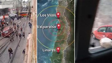 9RAW: Powerful earthquake rattles Chile