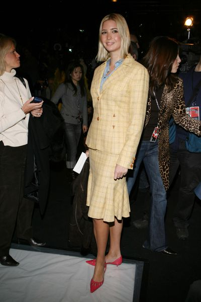 Ivanka Trump front row at Carolina Herrera autumn/winter '06, New York Fashion Week