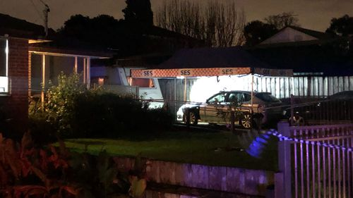 The man's body was found in a caravan outside the Scoresby home.
