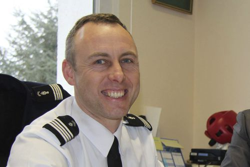 Arnaud Beltrame, shown here in 2013, has been hailed a hero after swapping himself with a hostage in a French siege to help end a gunman's rampage (AAP).