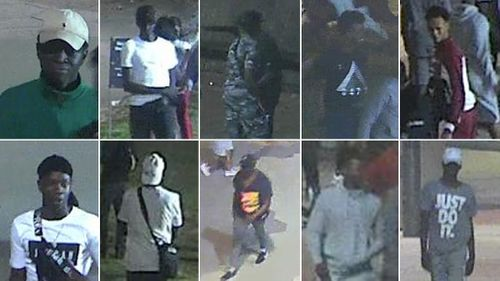 Police continue hunt for group of offenders regarding a violent assault on St Kilda foreshore.