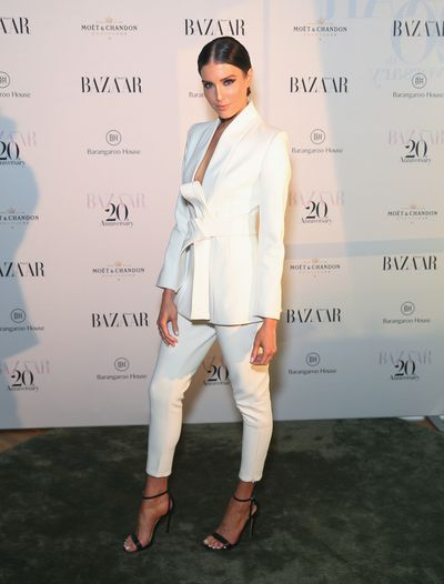 Model Erin Holland at the Harper's Bazaar 20th anniversary party