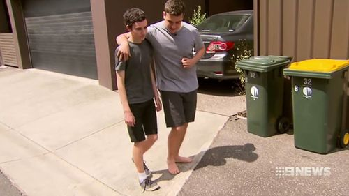 Andre was more than happy to help the hobbling friend who potentially saved his life. (9NEWS)