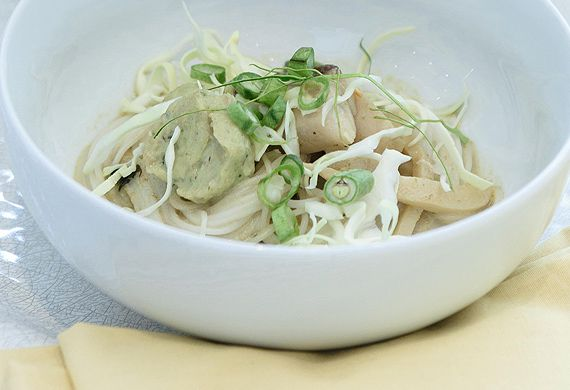 Marion Grasby's Thai green curry kanom jeen with snapper dumplings