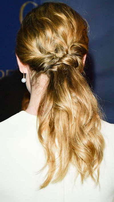 This twisted style is a pretty spin on bridal hair