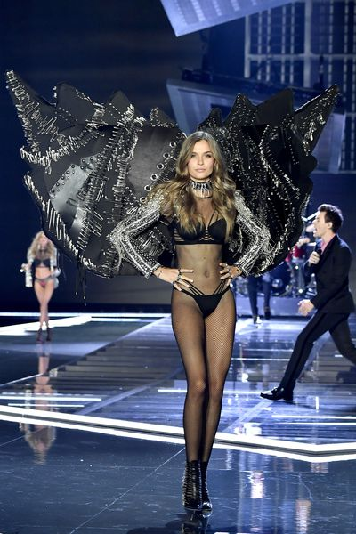 Josephine Skriver at the Victoria's Secret 2017 runway show in Shanghai.