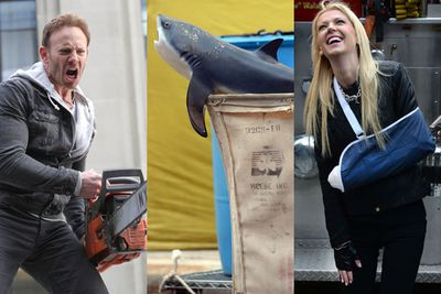 """If you weren't freaked out enough by the first <i>Sharknado</i> film, then it's your lucky day, because the sequel is looking even worse!<br/><br/>Filming has started in NY and TheFIX have all the behind-the-scenes action snaps. Think chainsaw wielding, horrific special effects and OF COURSE epic fake sharks. And by """"epic"""" we mean, absolutely crappy.<br/><br/>What are you waiting for?! Check out the pics!<br/><br/>(<i>Author: <b><a target=""""_blank"""" href=""""https://twitter.com/yazberries"""">Yasmin Vought</a></b></i>)"""