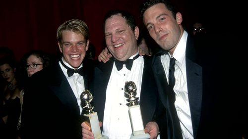 Matt Damon and Ben Affleck with Harvey Weinstein.