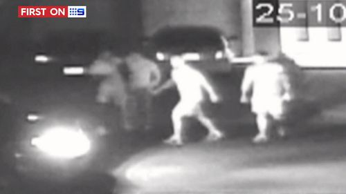 The kidnapping was caught on CCTV. (9NEWS)