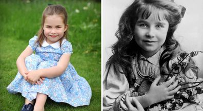 Princess Charlotte and Lady Elizabeth Bowes-Lyon, the late Queen Mother.