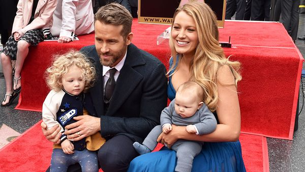 Family affair: Blake Lively and husband Ryan Reynolds with their two young daughters, are encouraging parents to learn CPR. Image: Getty