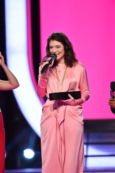 Lorde in Celine at the iHeart Music Awards in Canada, June.