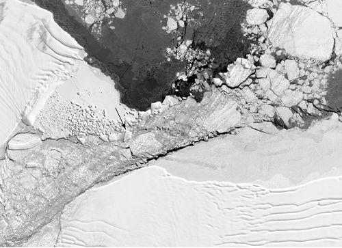 NASA image taken over the northern Antarctic Peninsula on Oct. 16, 2018.