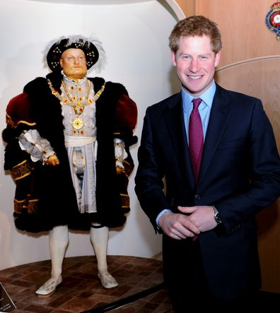 1ecb7f410168a7 James Corden wore a Henry VIII costume to Prince Harry and Meghan ...