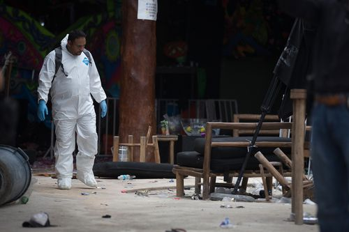 Tourists have no been left untouched by the violence. Last year, three foreigners were among 5 people gunned down at Blue Parrot nightclub in the neighbouring Playa del Carmen. (Getty)