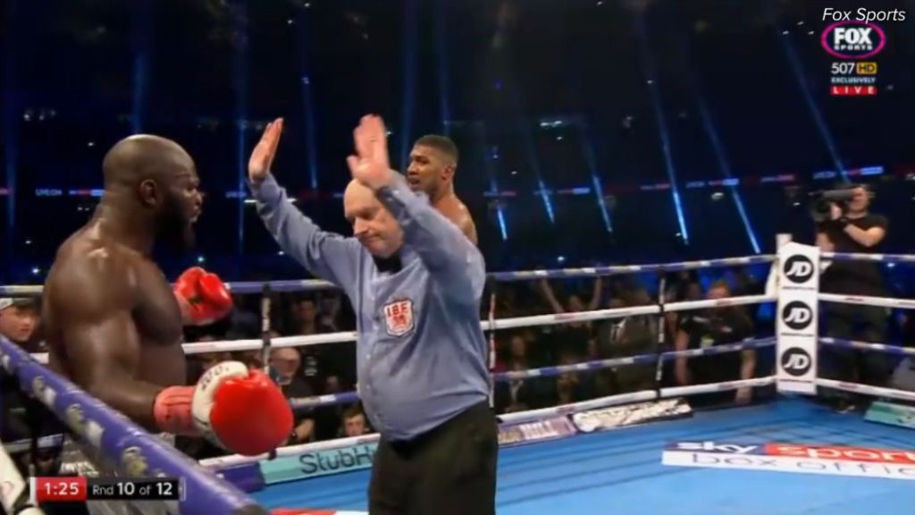 Joshua wins by TKO