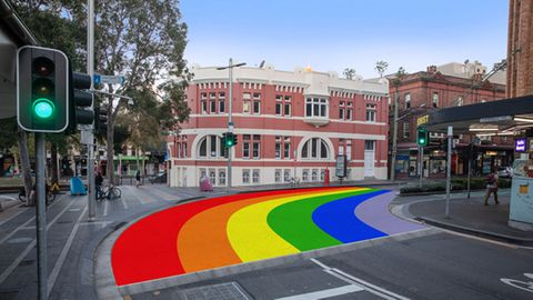 Sydney's rainbow crossing is returning to Taylor Square, Surry Hills after it was ripped up in 2013.