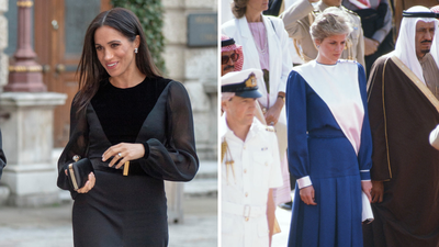 Meghan inspired by her late mother-in-law for her first royal engagement.