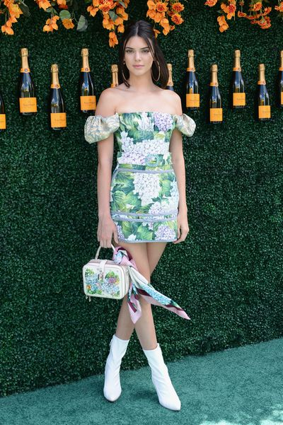 Kendall Jenner in Dolce & Gabbana at the Veuve Clicquot Polo Classic in New York.
