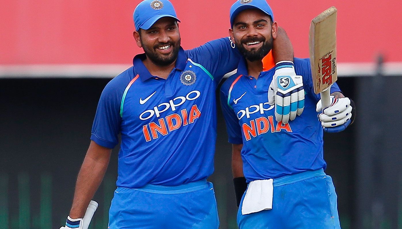 Rohit Sharma with Indian skipper Virat Kohli.