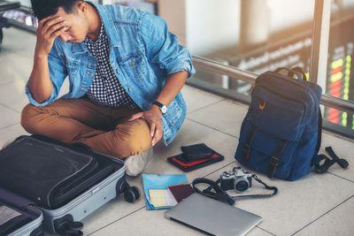 2. Losing belongings or passport