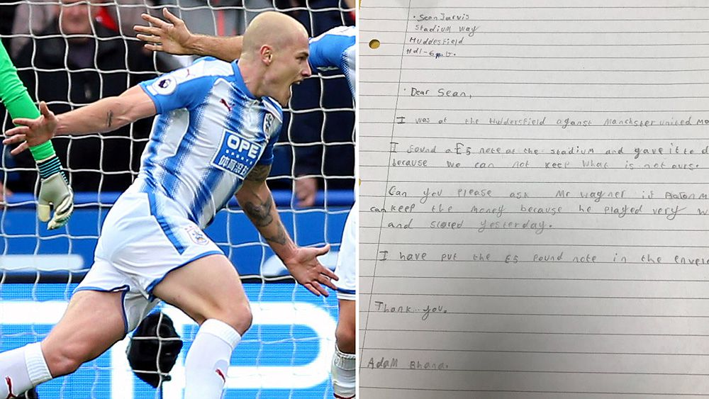 Huddersfield Town fan writes touching letter to club about his favourite player Aaron Mooy