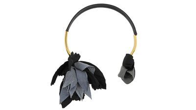 """<a href=""""http://www.net-a-porter.com/product/495341/Marni/gold-plated-leather-and-grosgrain-necklace"""" target=""""_blank"""">Gold-plated, leather and grosgrain necklace, $704.50, Marni</a>"""