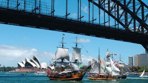 The tall ships race will be one of the highlights of Sydney's Australia Day celebrations. (AAP)