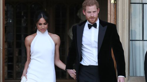 The day with the Queen will be Meghan's first public appearance without Harry. (AP/AAP)