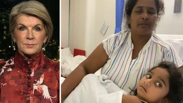 Biloela family should be 'quietly' resettled in Queensland, Julie Bishop says