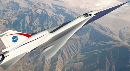 An artist impression of the quieter supersonic jet developed by NASA and Lockheed. (Image: Lockheed Martin).