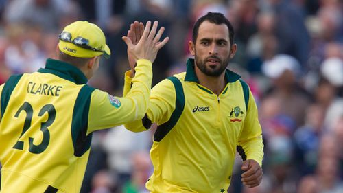 Australia's Fawad Ahmed at the One Day International cricket match in 2013. (AAP)