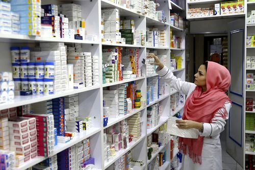 The price of medicine has gone up over 80 percent because of the re-imposed sanctions.