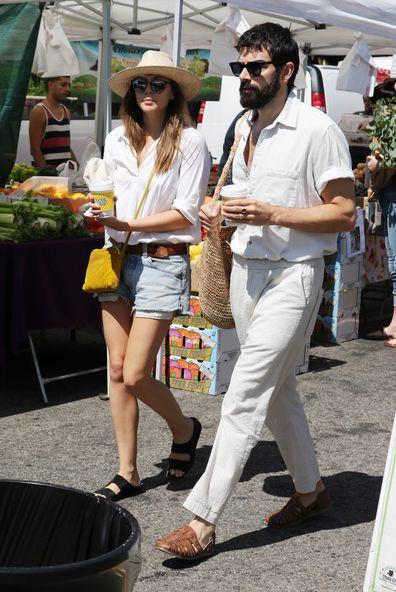 Elizabeth Olsen and Robbie Arnett are seen on August 11, 2019 at Los Angeles.