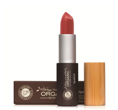 "<a href=""https://www.worldorganic.com.au/skin-care-products/Lipstick-Flame"" target=""_blank"">Organic Skincare Co Lipstick in Flame, $34.</a>"