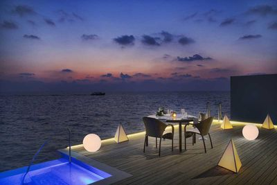 Westin Maldives in-villa dining