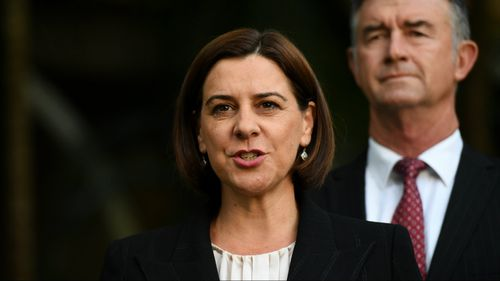 Opposition leader Deb Frecklington has slammed the Labor government's budget. (AAP)